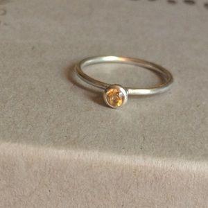 Silpada .925 Sterling November Birthstone Ring